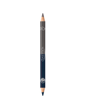 Crayon à paupières bois duo n°4 Steel Grey 1.38g Logona - produit de maquillage biologique