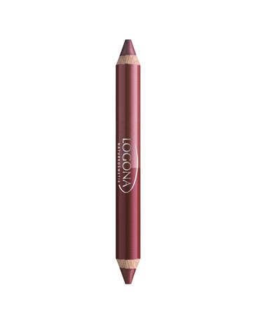 Rouge à lèvres duo crayon n°3 Berry 2.98g Logona - produit de maquillage biologique