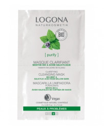 Logona Masque nettoyant et clarifiant Menthe bio / Acide salicylique 2 x 7,5 ml