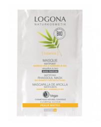 Masque matifiant Bambou / Hamamélis bio 2 x 7,5 ml Logona - cosmétique biologique