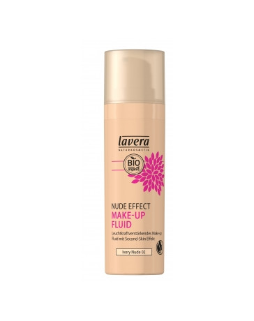 Nude Effect make up fluid Ivory nude 02 30ml Lavera - cosmétique naturel