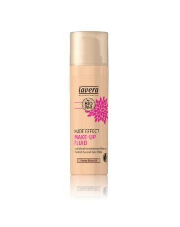 Nude Effect make up fluid HONEY beige 04 30ml Lavera - produit de maquillage bio