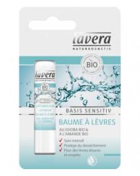 Baume à lèvres Jojoba et Beurre de Karité Basis Sensitiv  4.5 grammes Lavera - soin pour les lèvres