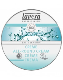 Crème multi usages visage et corps Beurre de karité Amande douce BASIS  25ml Lavera - produit de soin pour le visage