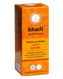 Teinture aux Plantes Noisette Naturel 100g Khadi - soin des cheveux