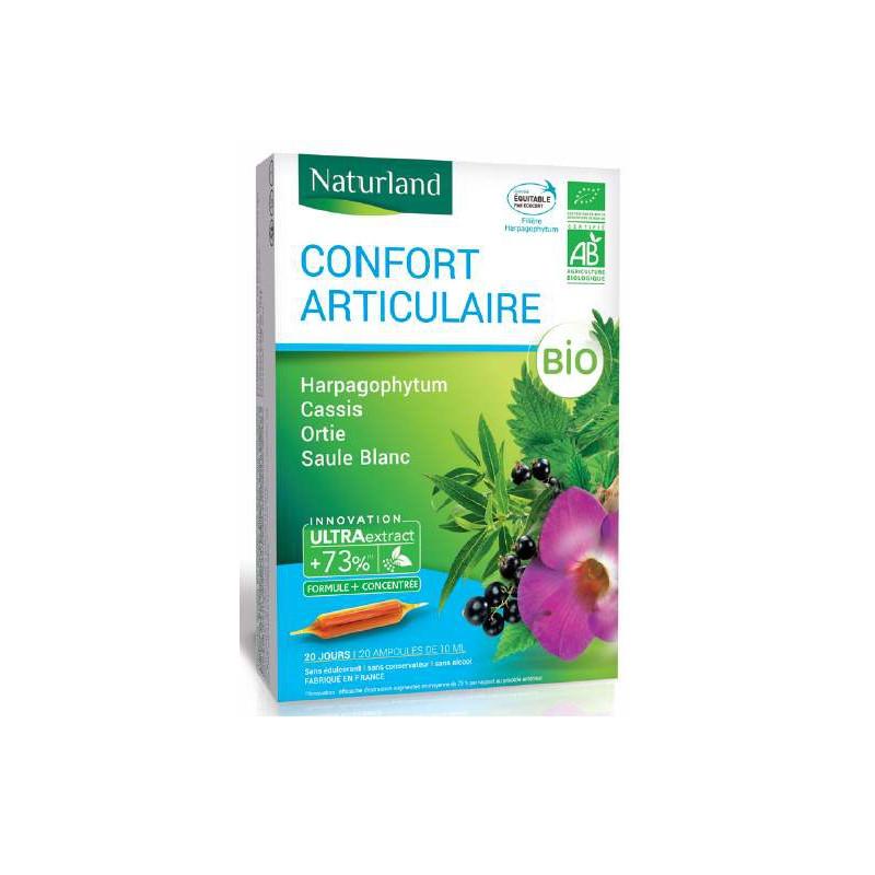 Naturland - Extrait fluide - Harpagophytum - Cassis - Ortie - Saule Blanc - Bio - Arthrose - Douleurs articulaires