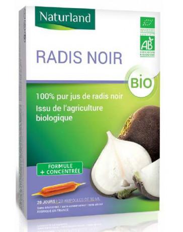 Naturland - Radis noir pur jus bio - 20 ampoules 10ml