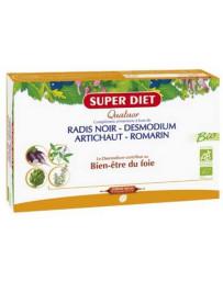 Pharma5avenue Super Diet Quatuor Desmodium Radis Noir Romarin Artichaut 20 Ampoules