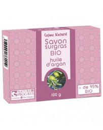 Cosmo Naturel Savon surgras à l'huile d'argan 100 gr, savon bio, huile d'argan bio