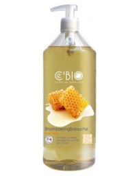 C'BIO Shampooing douche Miel 1 L, shampooing bio, pharma5avenue