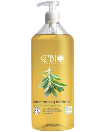 Cébio Shampooing fortifiant Quinquina Sauge Citron 500 ml