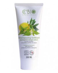 C'BIO Shampooing fortifiant Quinquina Sauge Citron 200 ml, shampoing fortifiant, pharma5avenue