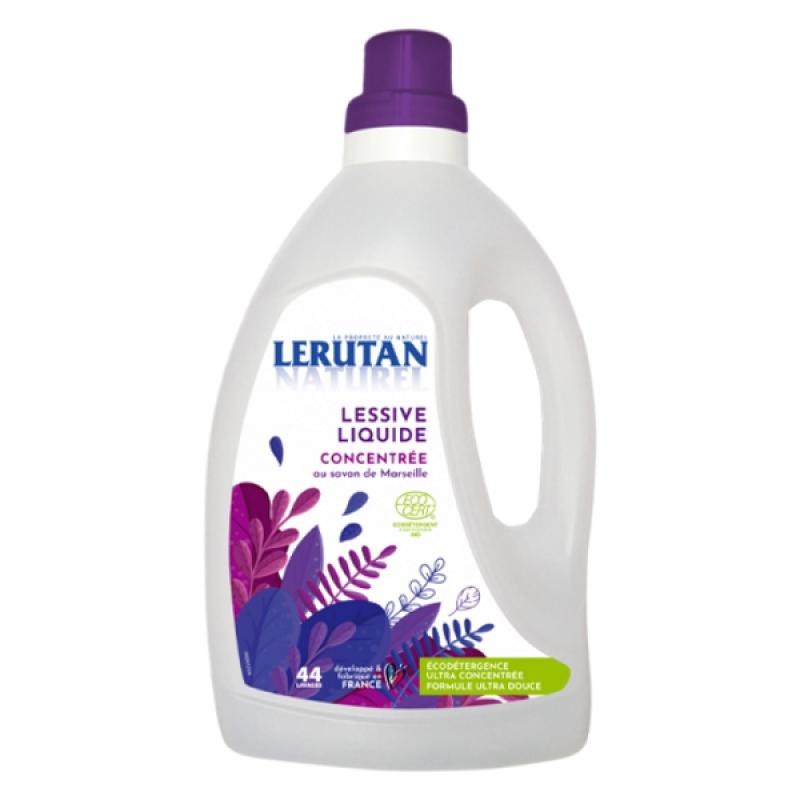 Lerutan Lessive liquide concentrée Savon de Marseille Orange Lavande 1.5 Litre, lessive écologique