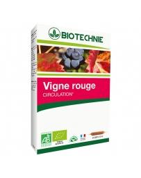 Biotechnie Vigne rouge bio 20 ampoules de 10 ml, jambes lourdes, pharma5avenue