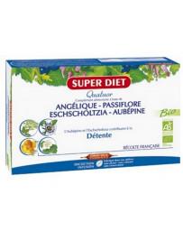 Super Diet Quatuor Angélique Passiflore Escholtzia Aubépine 20 ampoules de 15ml
