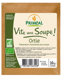 Primeal Vite une soupe Ortie sauvage d'Ardèche sachet individuel 10g, soupe pomme de terre ortie