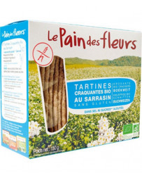 Le Pain des Fleurs Tartines craquantes Sarrasin sans sel ni saccharose 150 gr