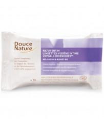 Douce Nature 15 Lingettes natur'intim hygiène intime écologiques biodégradables