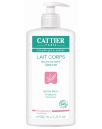 Cattier Lait corps Beurre de karité Géranium Nourrissant 500 ml, lait corporel bio, pharma5avenue