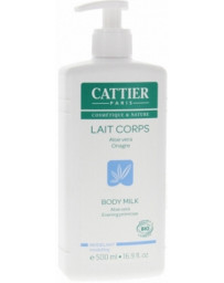 Cattier Lait corps hydratant modelant Aloe Vera Onagre 500 ml, lait silhouette bio pharma5avenue