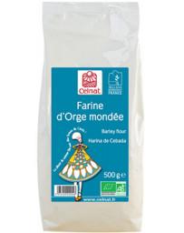Celnat Farine d'Orge mondée 500 gr, farine bio, pharma5avenue