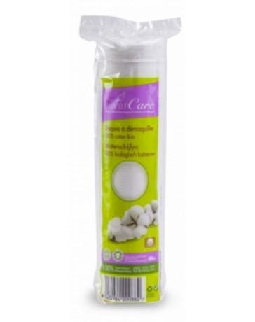 Disques à démaquiller 100% coton bio  80 unités Silvercare - produit de nettoyage pour le visage