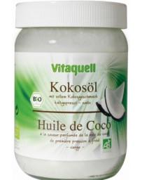 Vitaquell Huile de coco vierge culinaire et soin corporel parfum noix de coco 400 gr