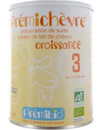 Lait prémichèvre croissance sans gluten de 12 à 36 mois 900g Prémibio - aliment pour bébé
