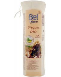 Bel Nature 70 Disques à démaquiller coton bio motif fleur et bords cousu