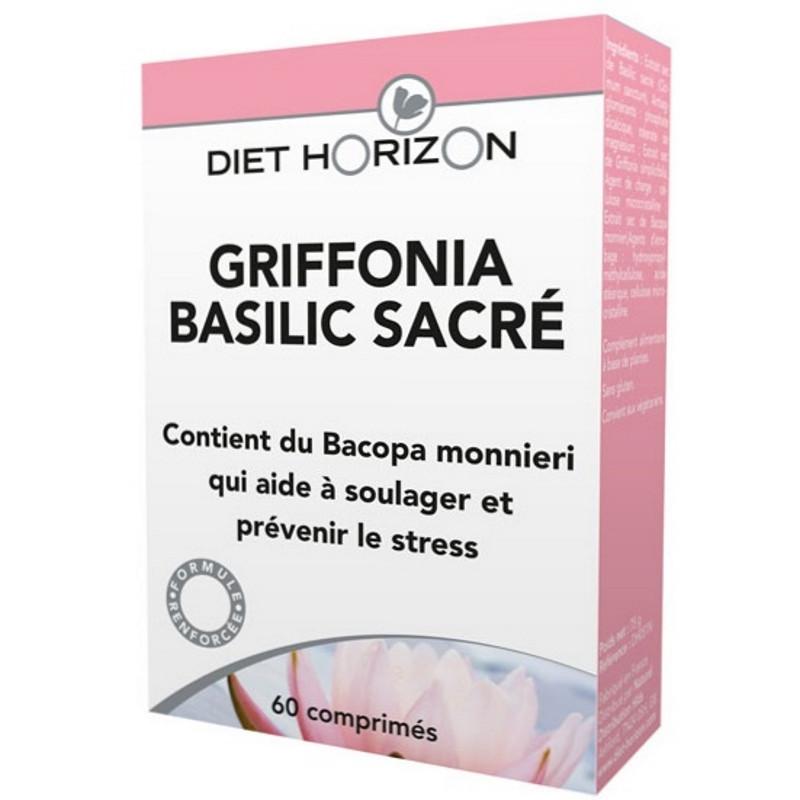 Diet Horizon Griffonia Basilic sacré 60 comprimés, déprime, nervosité, fatigue pharma5avenue