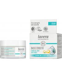 Lavera Crème de Jour anti rides Coenzyme Q10 Basis Sensitiv 50 ml, crème hydratante bio