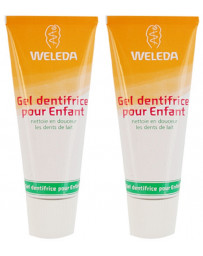 Weleda duo lot de 2 Gel dentifrice enfant dents de lait 2x50 ml
