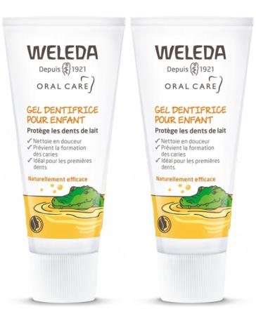 Weleda duo lot de 2 Gel dentifrice enfant dents de lait 2x50 ml