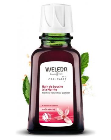 Weleda Bain de bouche à la Myrrhe 50 ml, bain de bouche certifié natrue, pharma 5 avenue