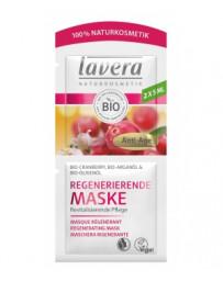 Lavera Masque anti rides Cranberry bio Huile d'Argan bio 2x5 ml, soin du visage anti rides