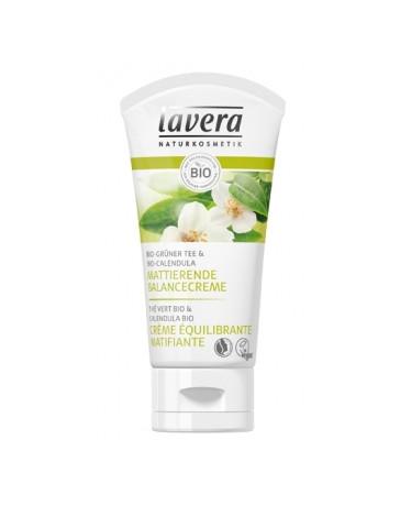 Lavera Crème équilibrante matifiante Thé vert bio 50 ml, crème visage peaux mixtes Pharma5avenue