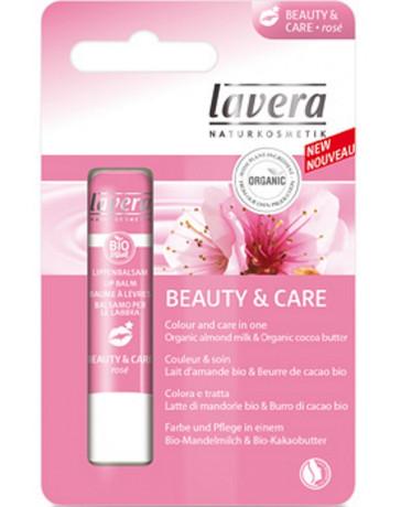 Lavera Baume à lèvres Amande Beurre de Cacao Beauty and Care Rosé 4.5 gr