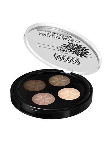 LAVERA Fard à paupières beautiful mineral Quattro Cappuccino 02 2.4g, palette maquillage Pharma5avenue