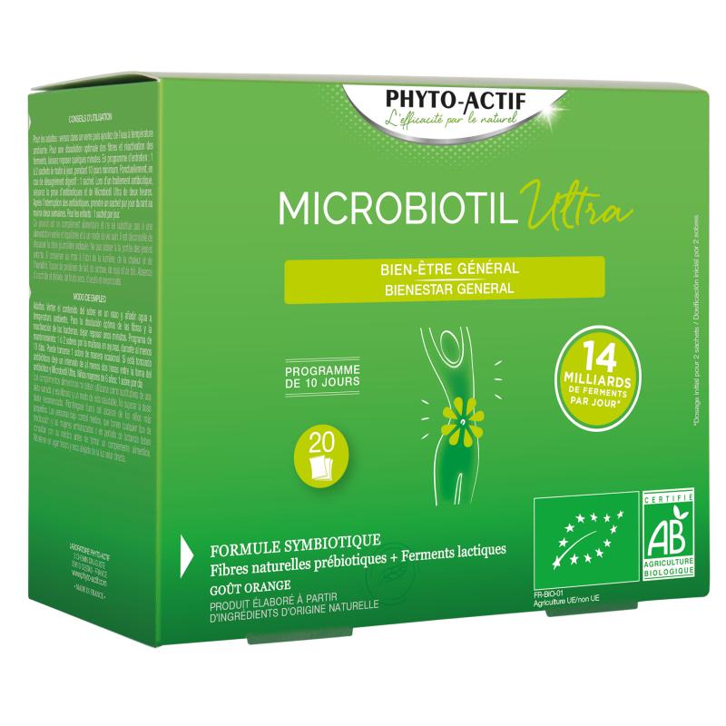Probiotil Ultra Bien être Intestinal Ferments Lactiques 20 sachets 120g Phyto-actif pharma5avenue