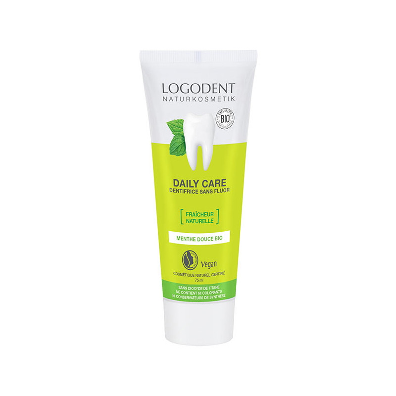 Logona Dentifrice à la menthe bio Daily Care 75ml Pharma5avenue