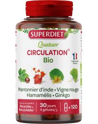 Quatuor Marronnier Vigne Rouge Hamamelis Ginkgo biloba 120 gélules Super Diet