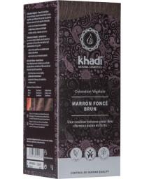 Khadi Coloration végétale Marron Foncé 100 gr - soin des cheveux
