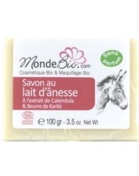Monde bio savon 40 % lait d'ânesse bio karite et extrait de calendula 100gr