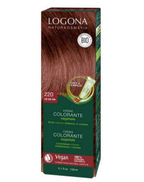 Logona Crème colorante Lie de vin 202 cheveux chatains 150 ml henné naturel Pharma5avenue