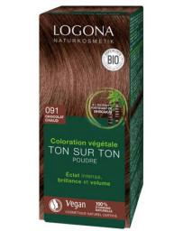 Logona coloration végétale Ton sur Ton en poudre 091 Chocolat chaud 100gr Pharma5avenue