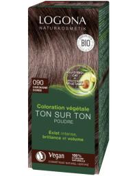 Logona coloration végétale ton sur ton 090 en poudre Chataîgne dorée 100 gr soin colorant naturel Pharma5avenue