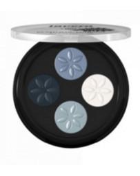Lavera Fard à paupières Quattro Blue platinum 07 4x0.80gr