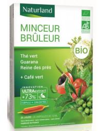 Naturland thé vert Café vert Guarana Reine des prés bio 20 ampoules