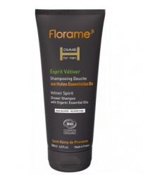Florame Florame Shampoing douche Esprit Vétiver 200ml, gel douche bio, shampooing bio, pharma5avenue