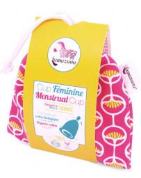 Lamazuna Cup féminine Taille 1 pochette en coton bio rose Pharma5avenue